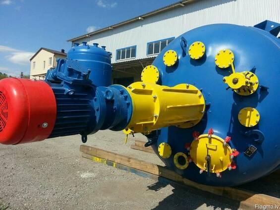 Реактор эмалированный 25м3. эмаль синяя WWG.