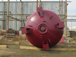 Реактор эмалированный 42м3. эмаль синяя. - фото 3