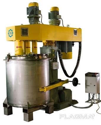 Диссольвер трёхвальный с гидроподъёмником