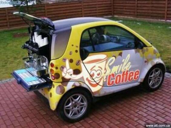 Мобильное кафе автомобипь Smart