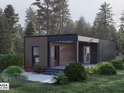Модульный деревянный каркасный дом