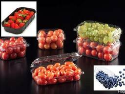 Transparent packaging for berries, fruits, meat, eggs, mush. - photo 2
